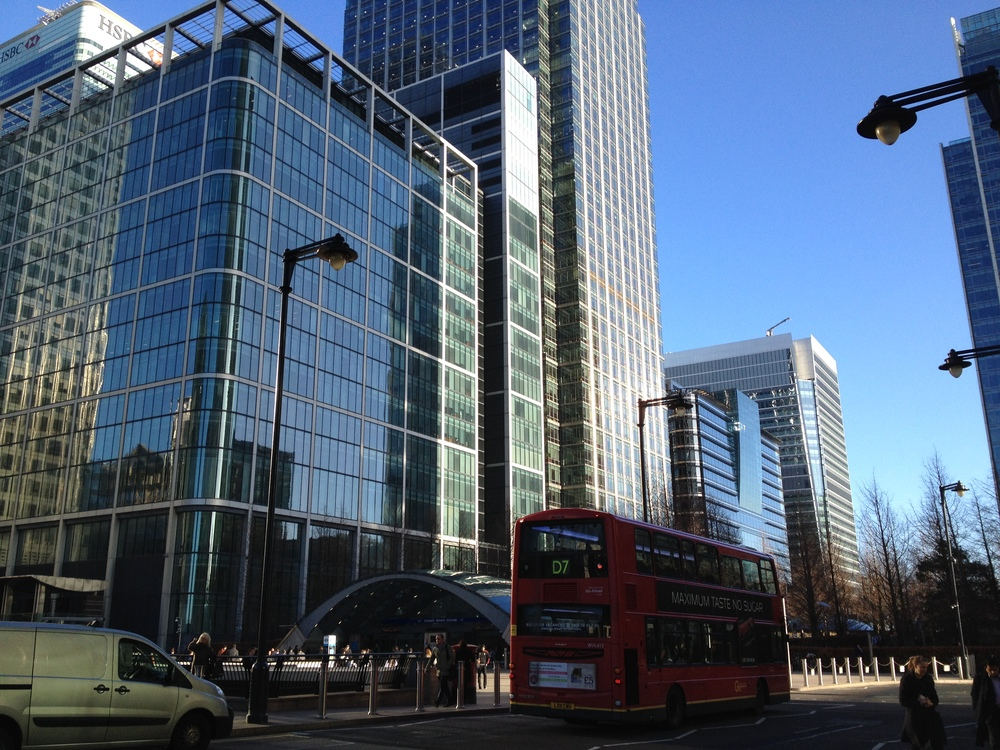 my old office block in canary wharf