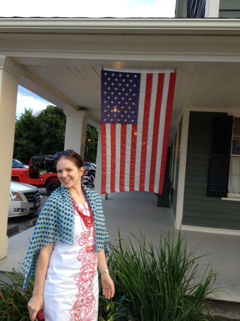 American flag Rebecca
