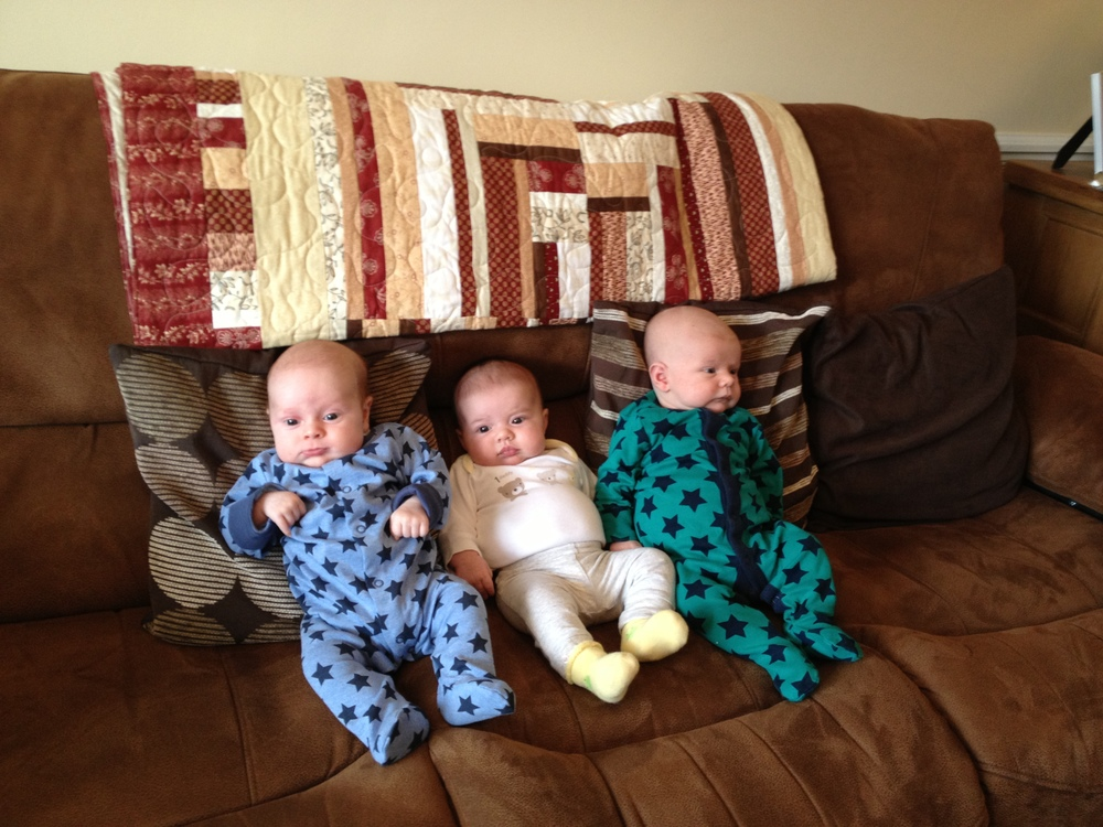 Very first play date....not much playing being done. Sitting upright(ish) is pretty big stuff though!