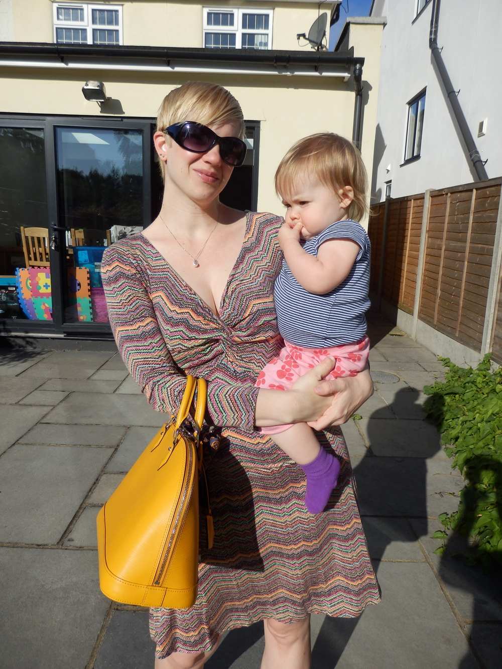 Bug wanted in on the piccy action - she's in half jammies / half clothes :)