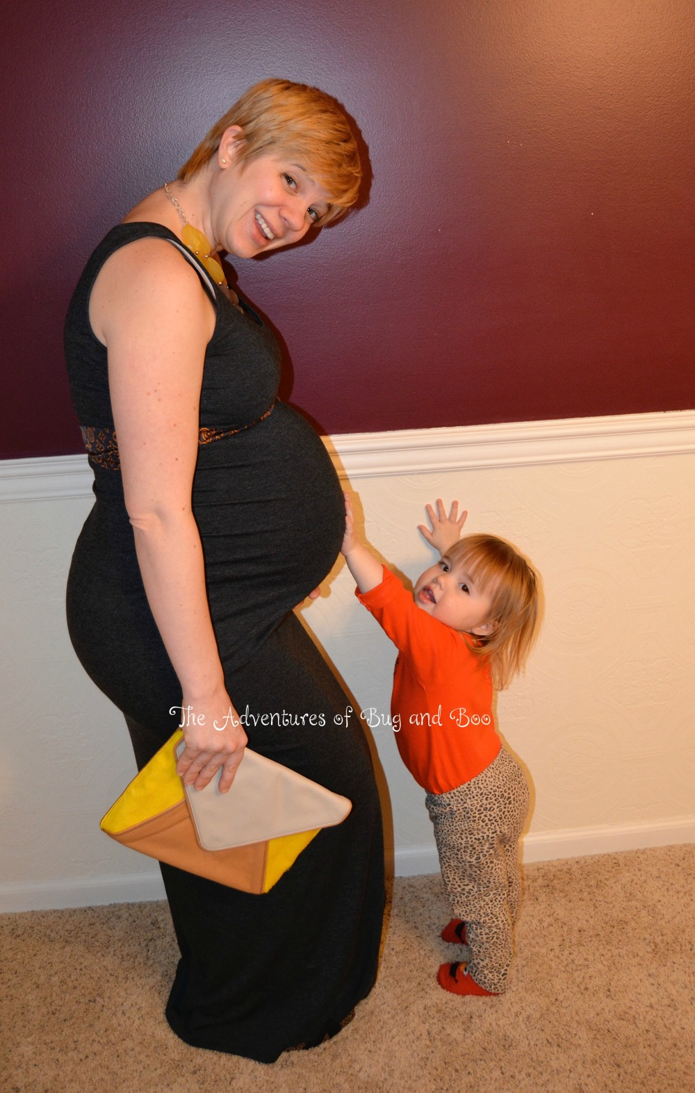 There's a little Peanut in that big ol' belly...nearly to the finish line in this pic!