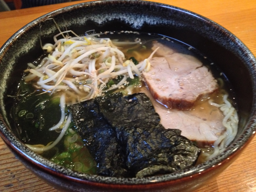 Syoyo-Rahmen (ramen noodles in a hot pork broth)