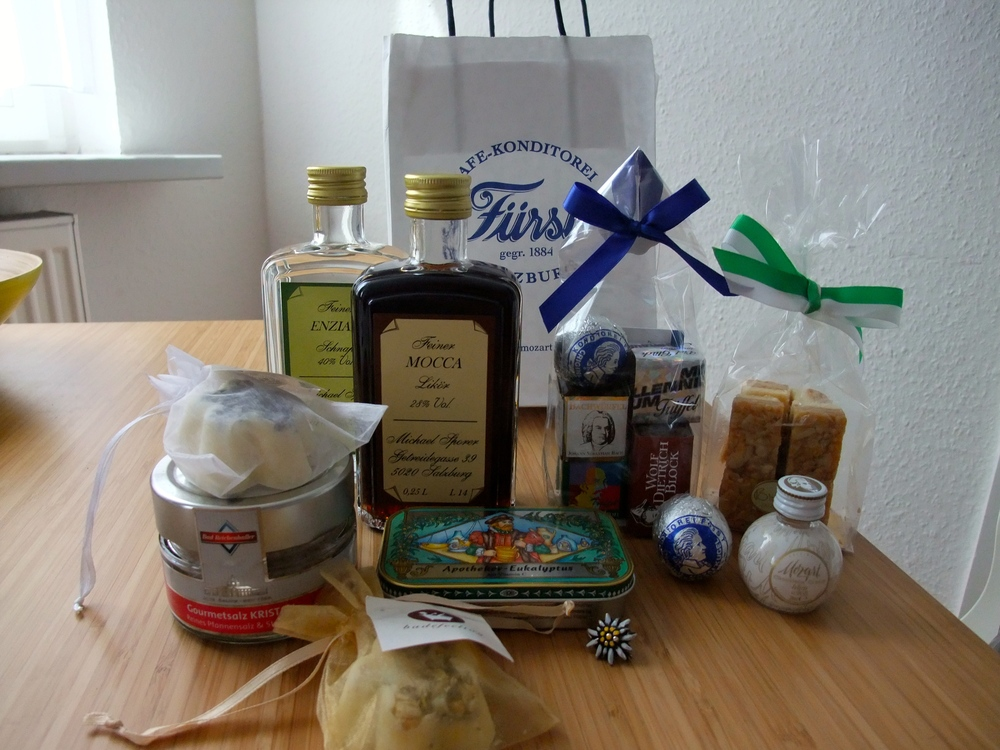 Spoils from Salzburg, including Fürst Mozartkugel