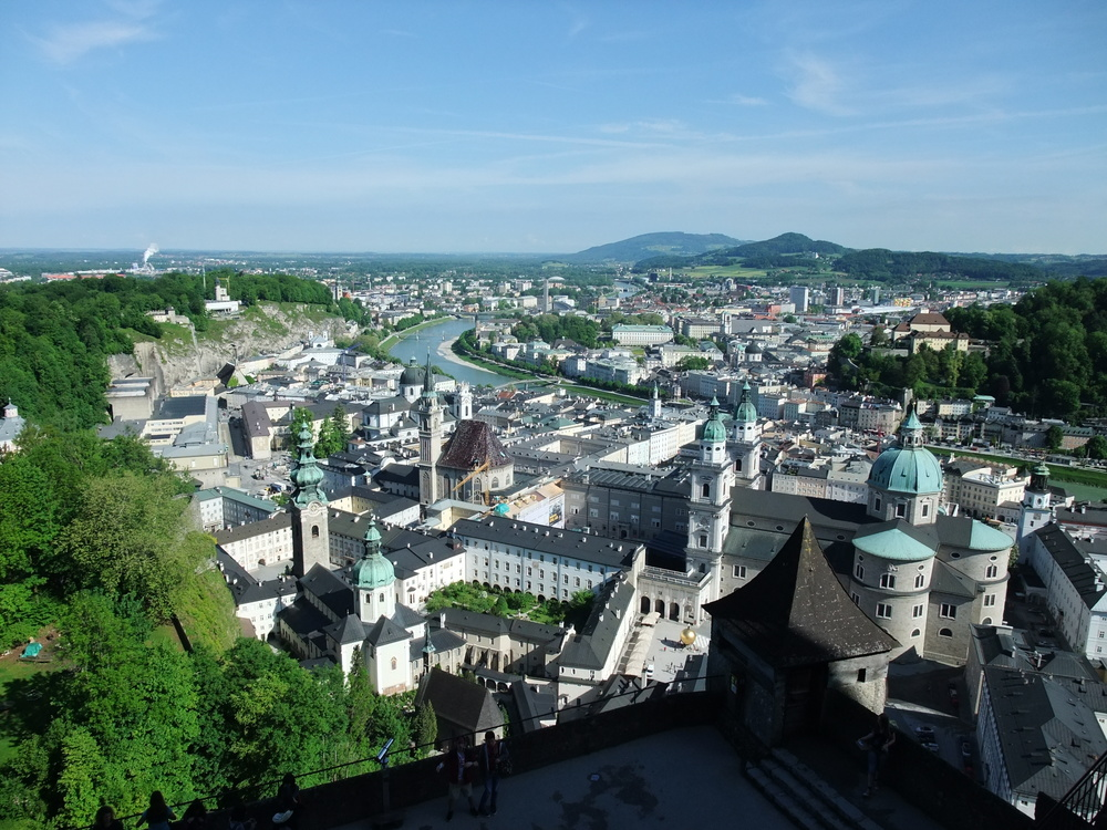 A view of Salzburg from the castle