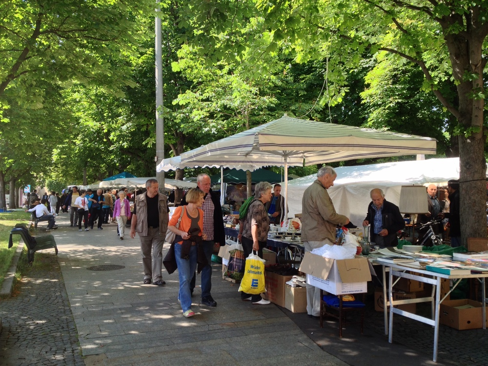 The Saturday antiques market in Karlsplatz