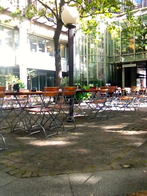 The patio at La Piazza