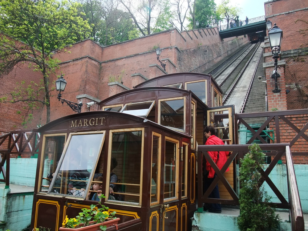 The funicular to Buda Castle