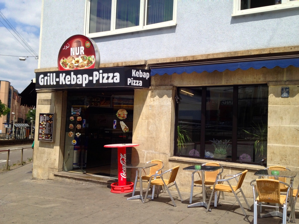 Nur Kebap & Pizza just off of Charlottenstraße.