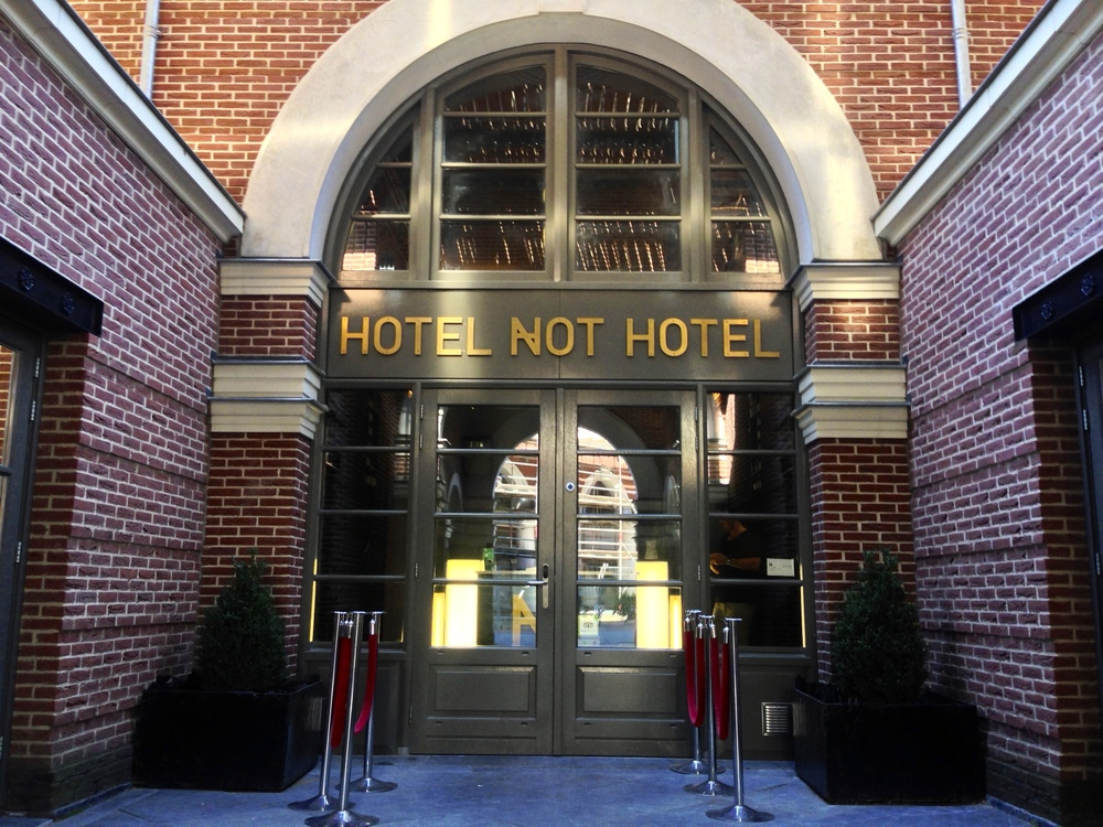 Entrance to Hotel Not Hotel