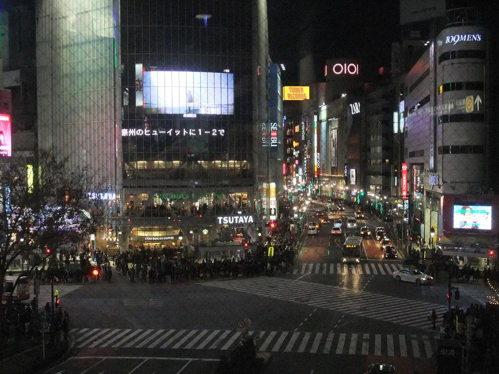 Shibuya Crossing before the light turns