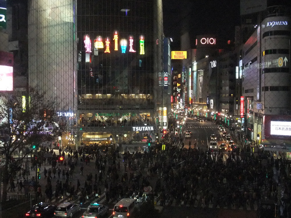 Shibuya Crossing after the light turns