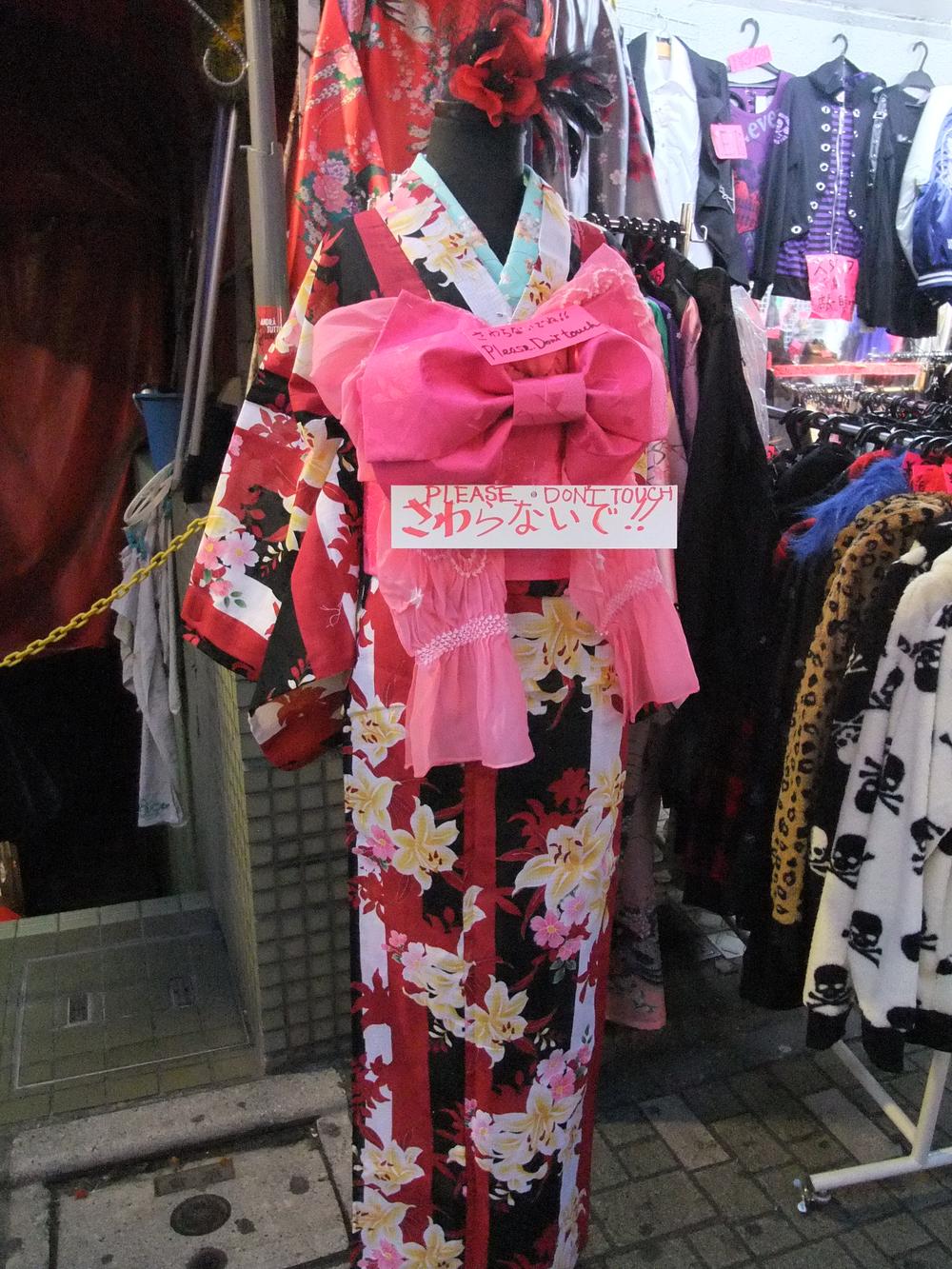 A kimono for sale on Takeshita Street