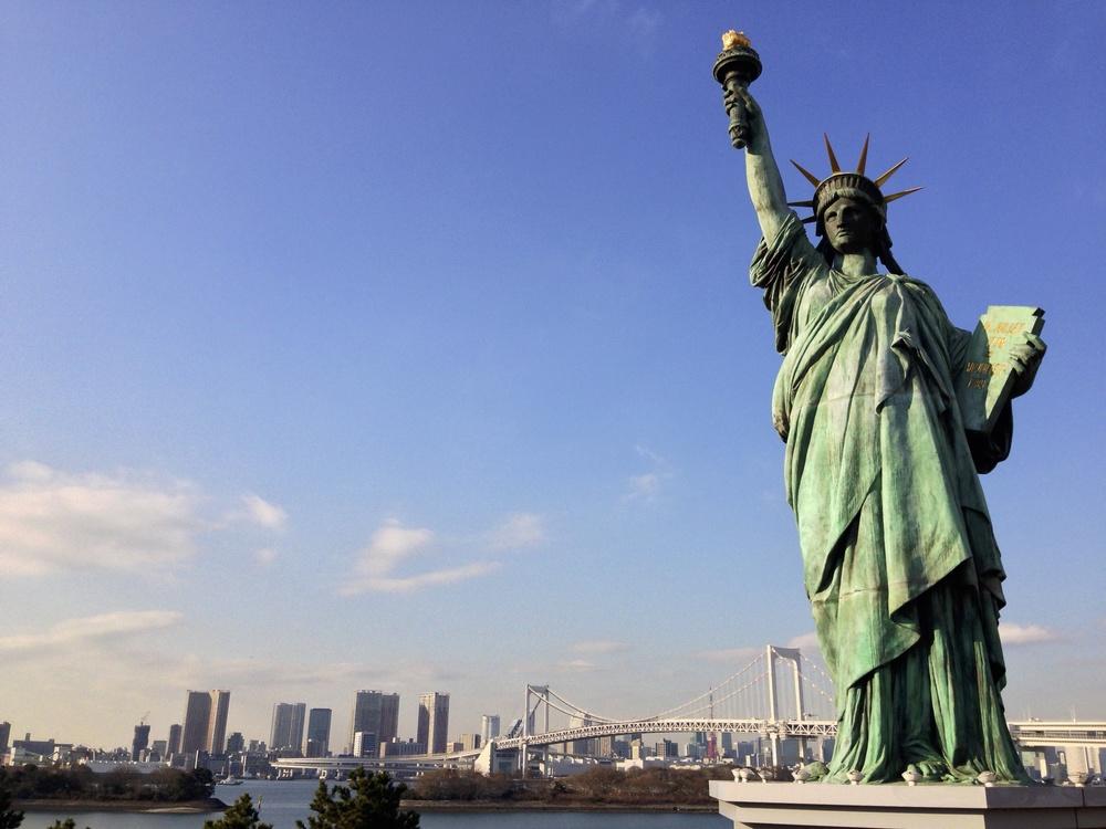 The Statue of Liberty on Odaiba