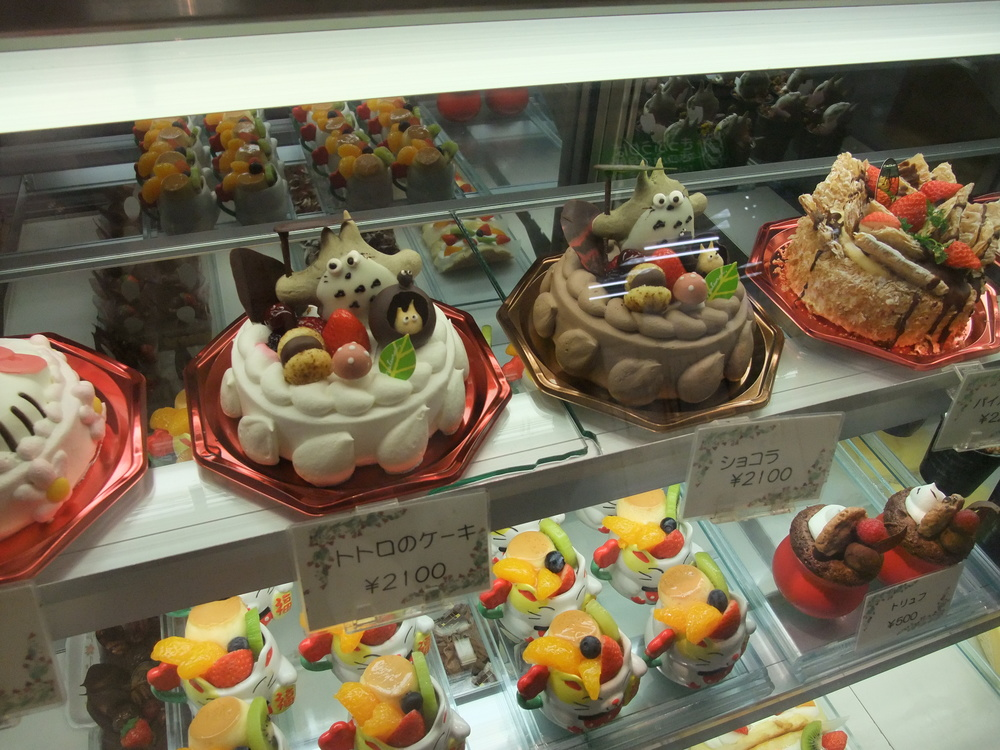 Totoro-themed Japanese cakes