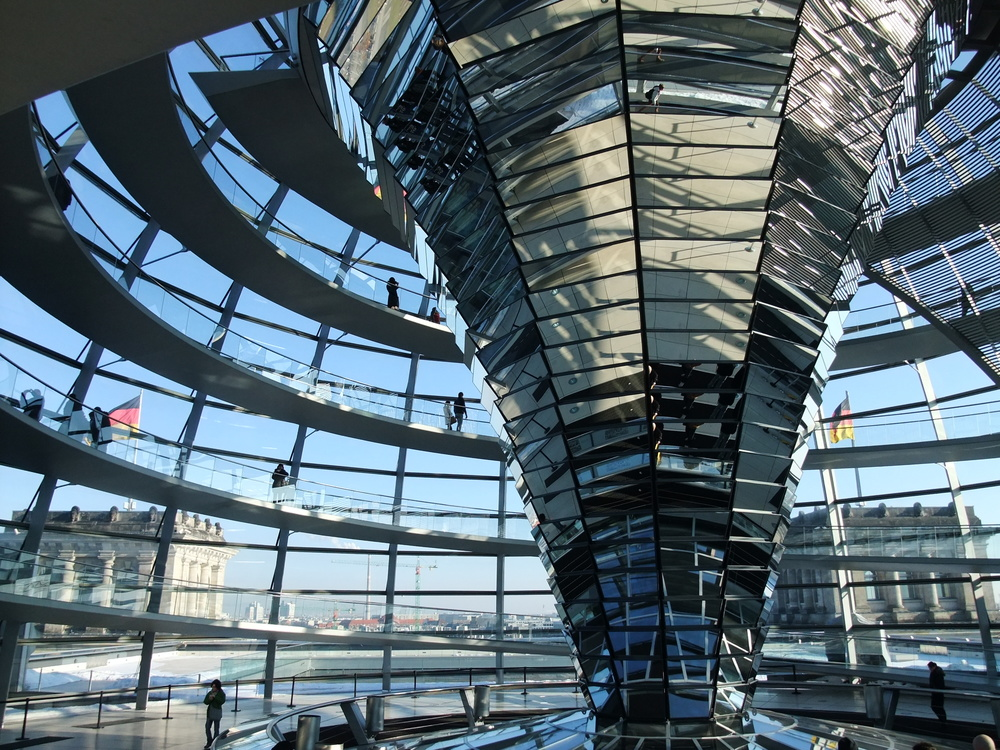 Inside the new dome of the Reichstag