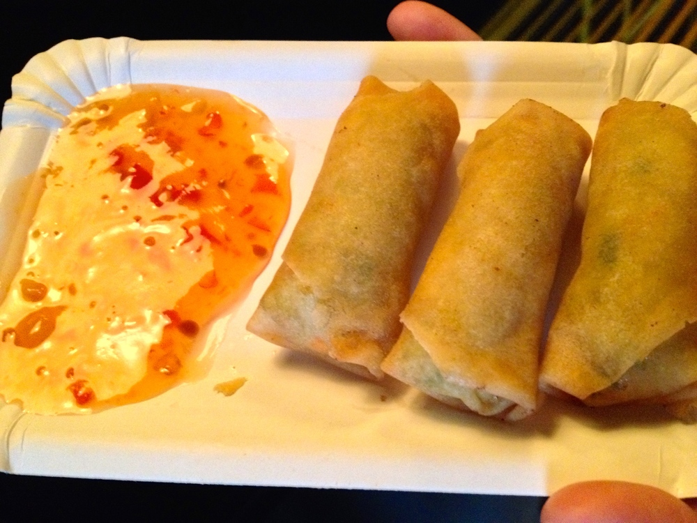 Mini fried spring rolls at Takeshii's