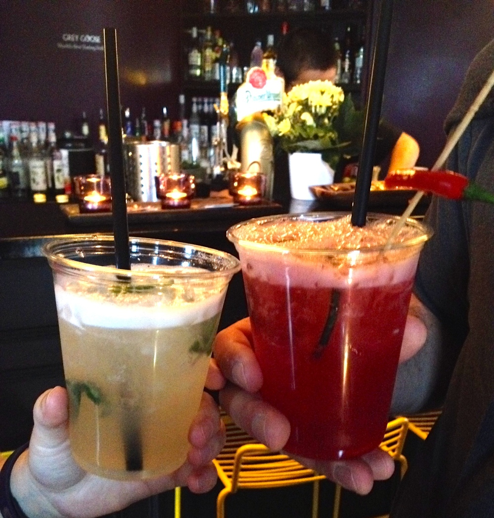Thai Basil Smash and Dragon Tango at Takeshii's