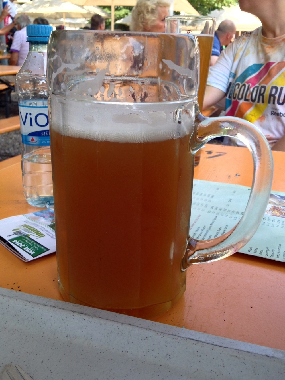 A full liter of hefeweizen