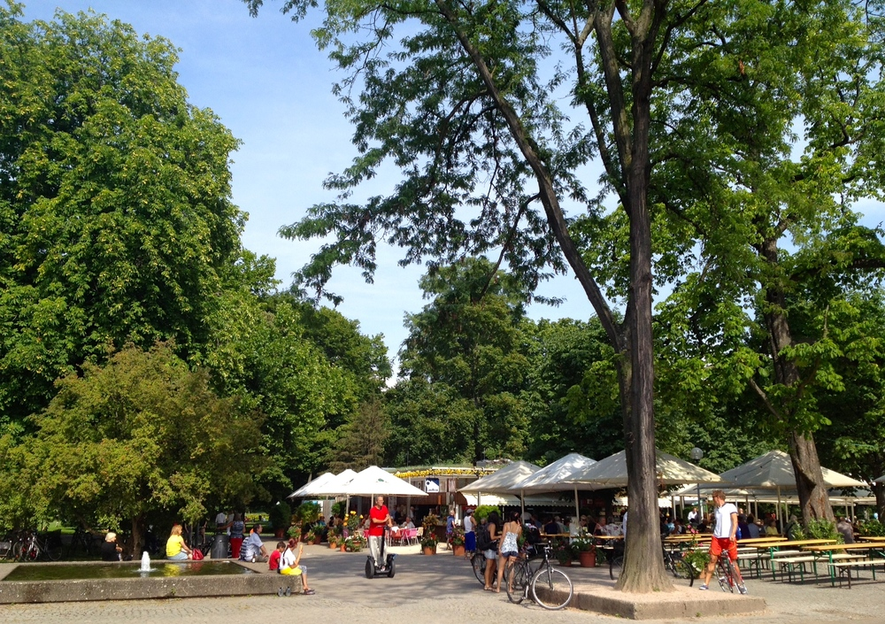 A view of the Biergarten im Schlossgarten