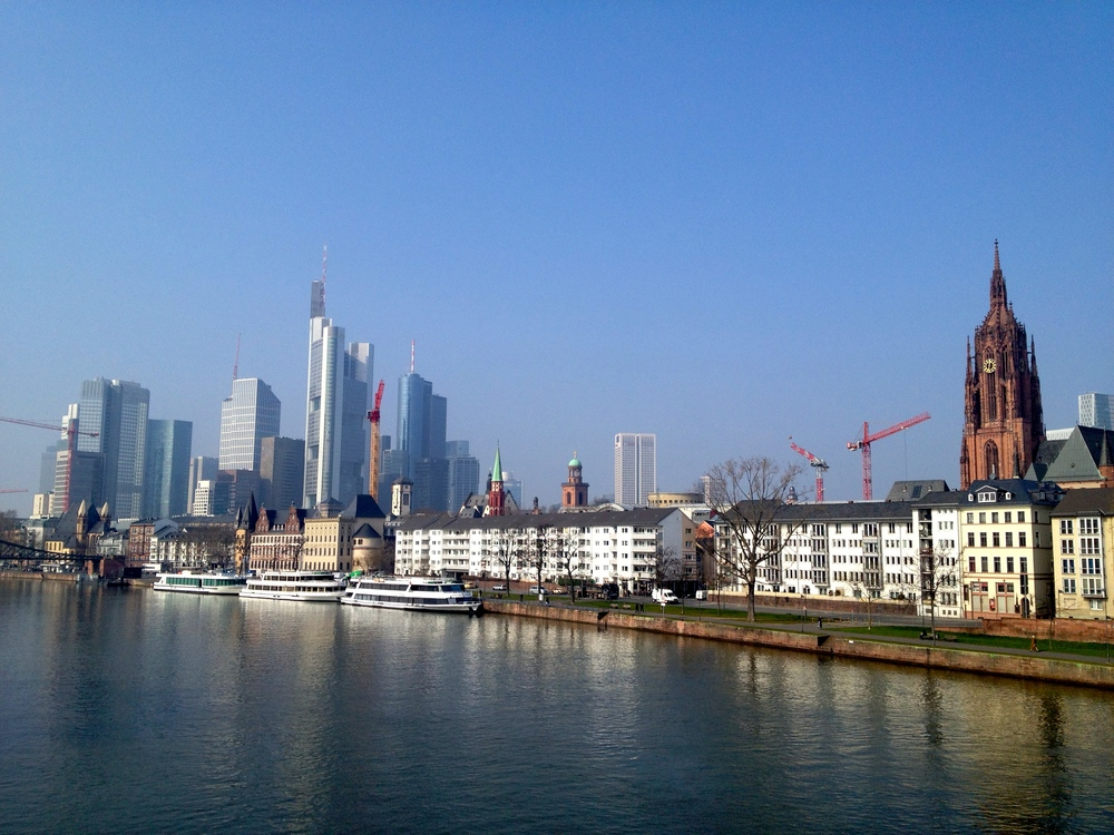 Frankfurt skyline as seen from the Main