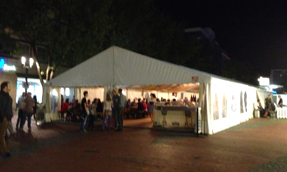 The Czech Beer Festival tent in  Kronprinzplatz