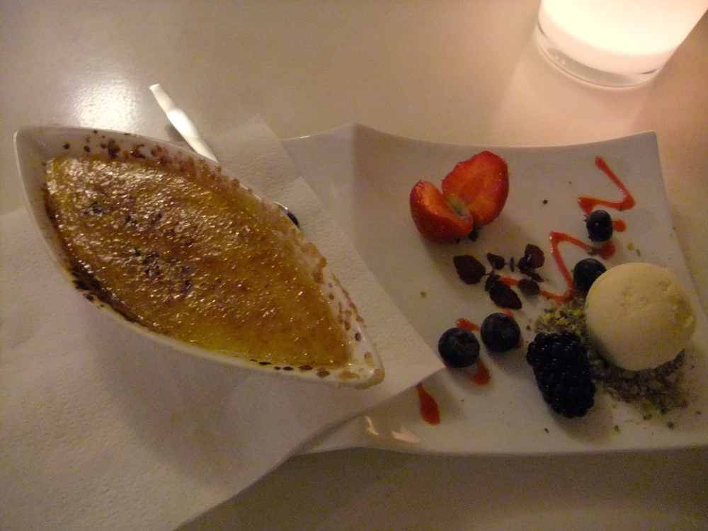 Crème brûlée at 't Nieuwe Plein