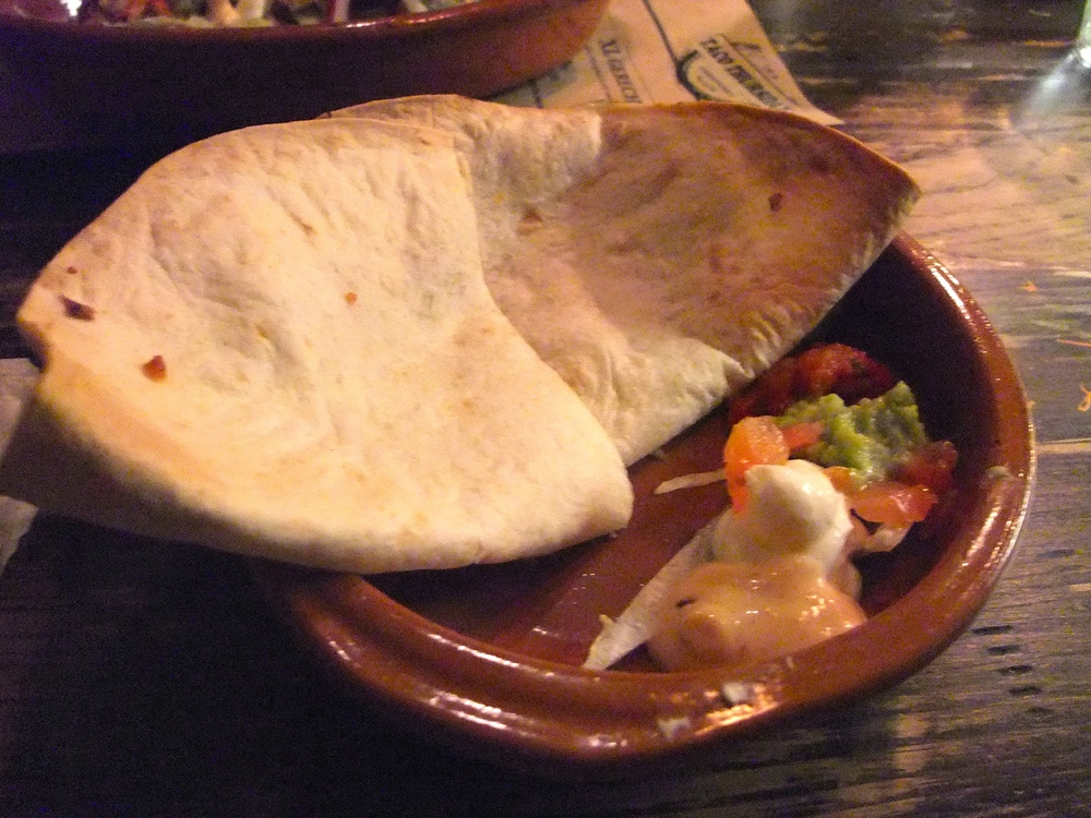 Cheese quesadillas at Cantina