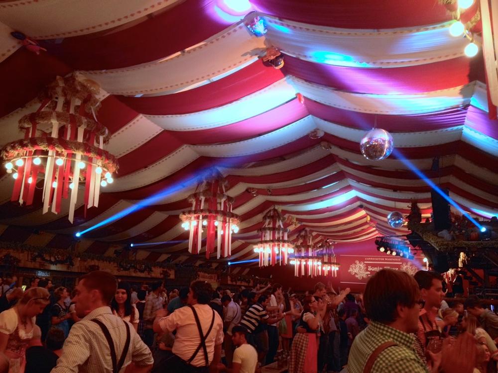 Inside the Sonja Merz tent