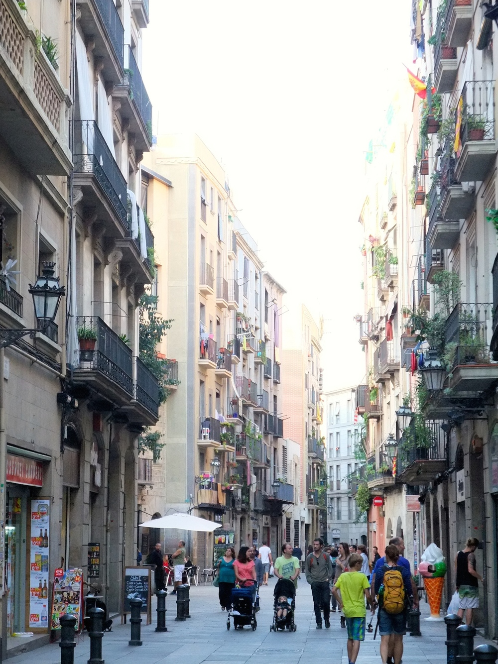 Walking around the center of Barcelona