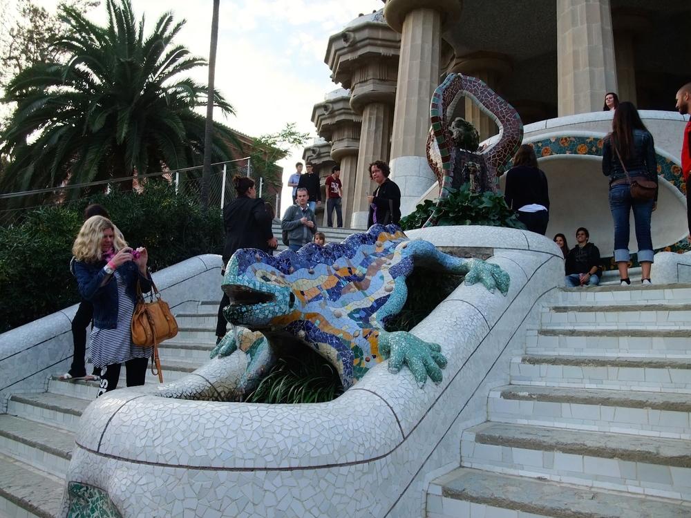 The mosaic salamander insidePark Güell