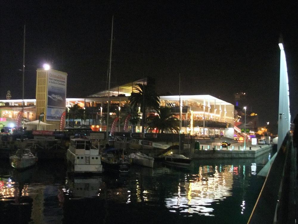 Port Vell at night