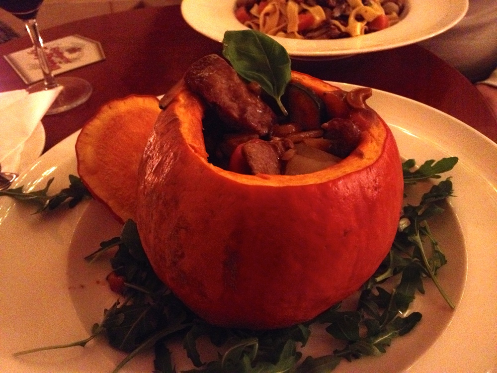 "My Hokkaido pumpkin filled with a ""Marrakesh"" lamb stew"