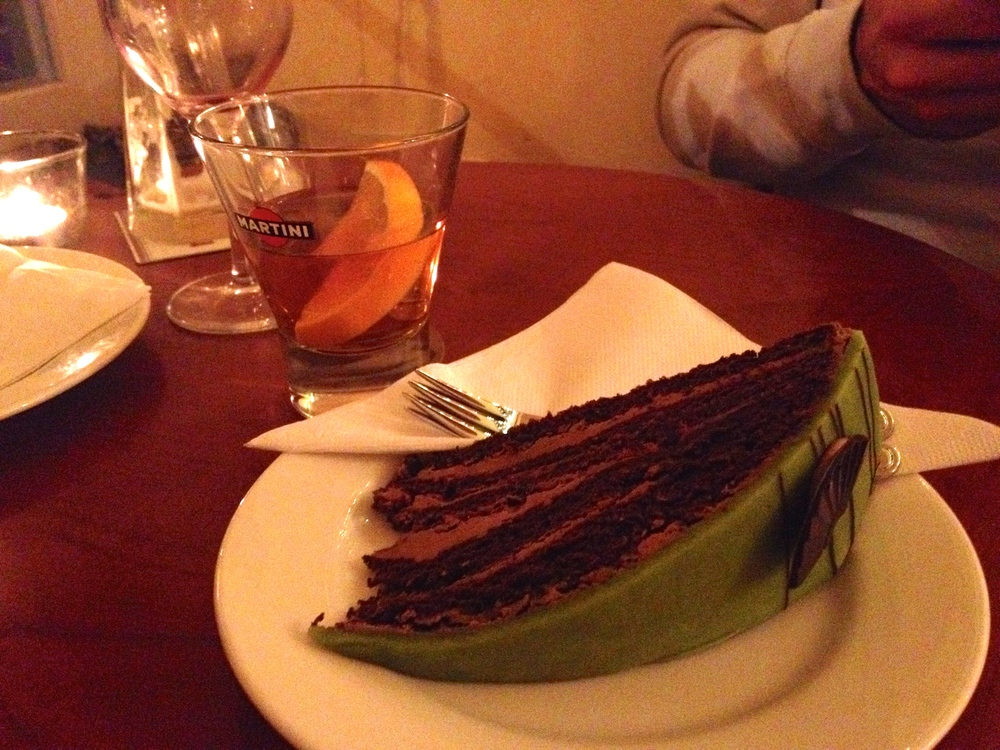 "The green ""hunter's cake"" we tried for dessert"