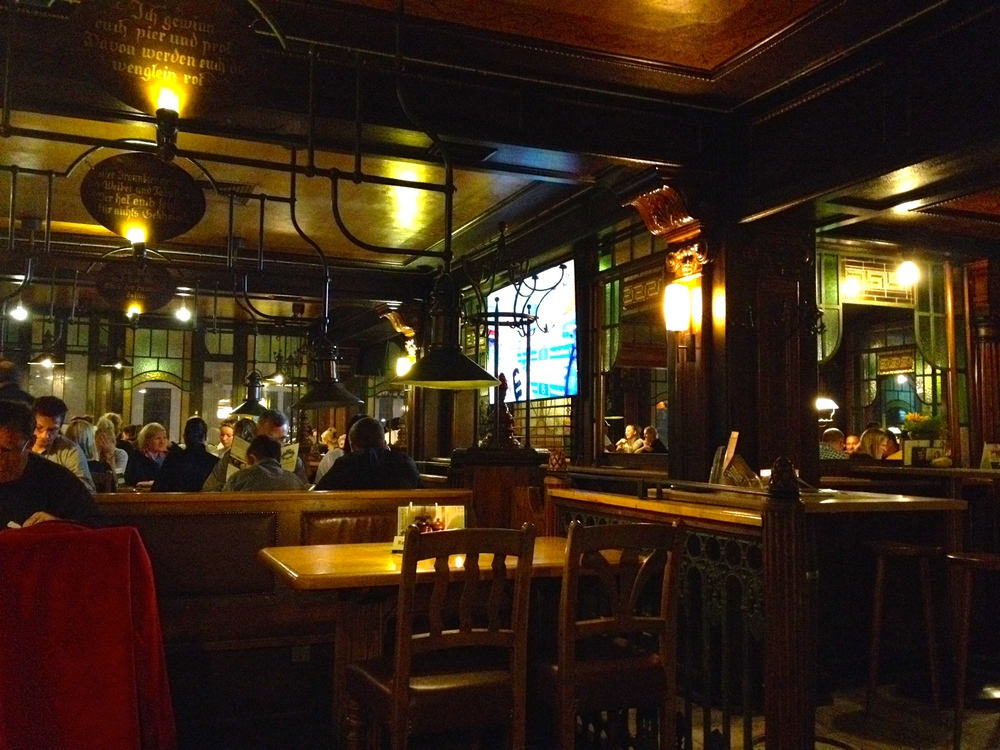 The lovely (and crowded) Art Nouveau interior of the restaurant