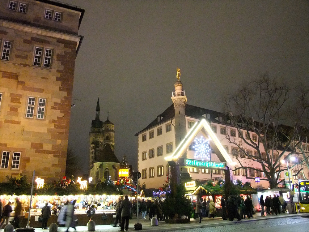 The entrance to the  Weihnachtsmarkt