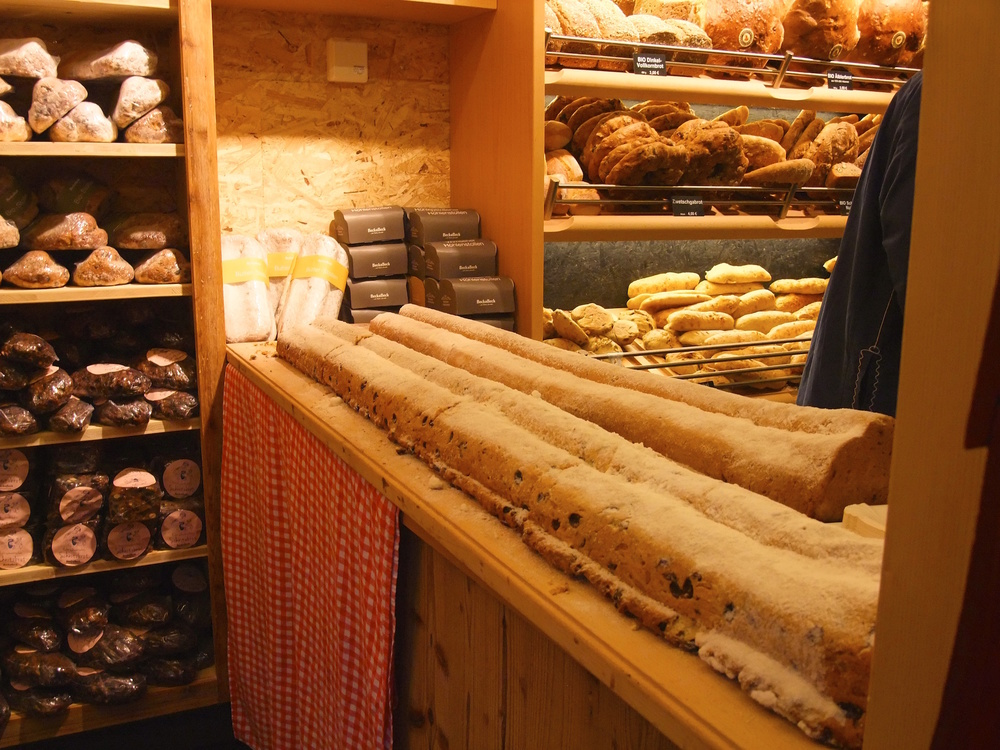 Some very large loaves of German  Stollen