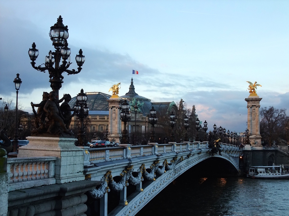 A view of the  Musée d'Orsay  across the Alexander Bridge, my favorite in Paris