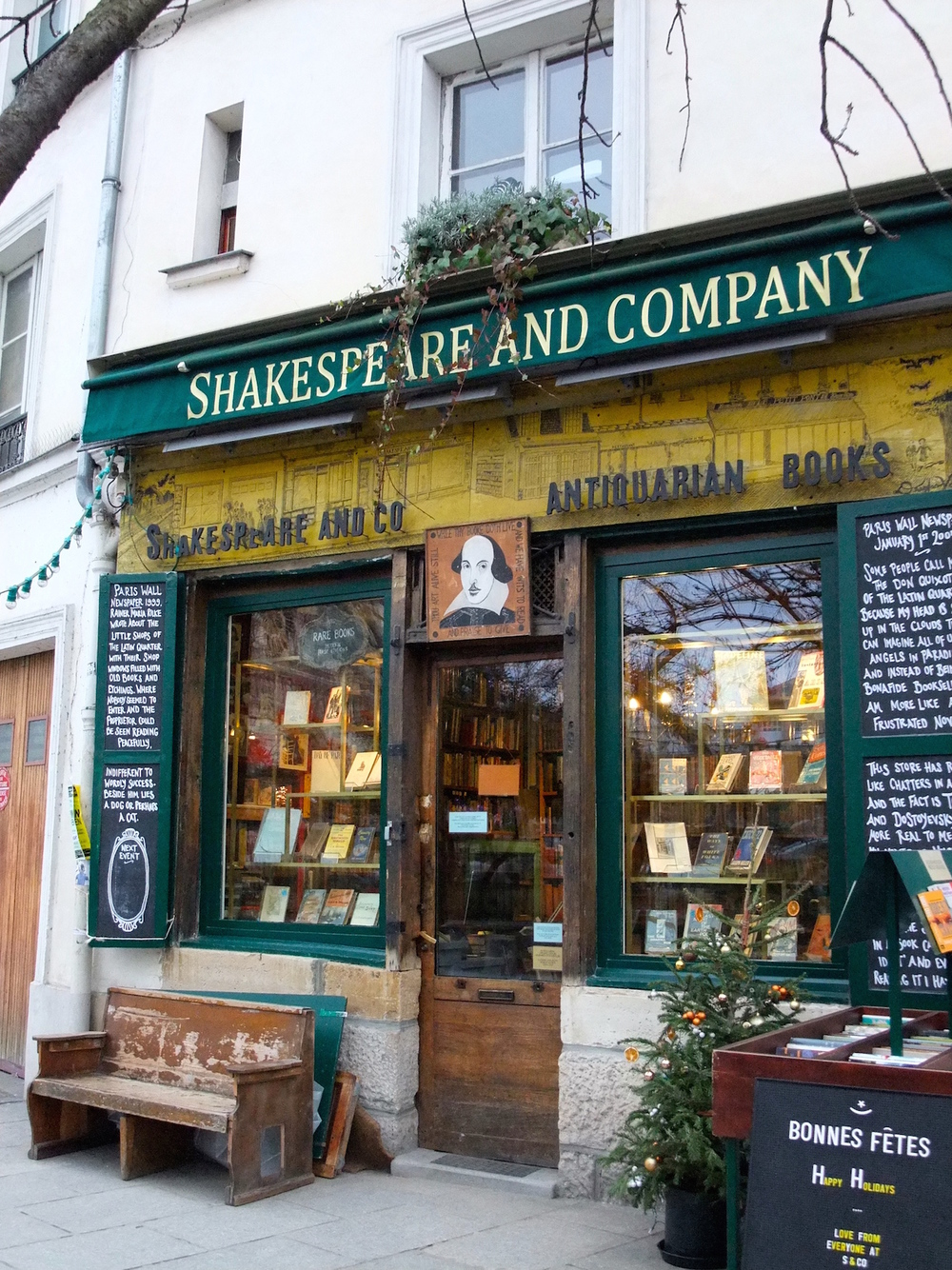 The famous Shakespeare and Company