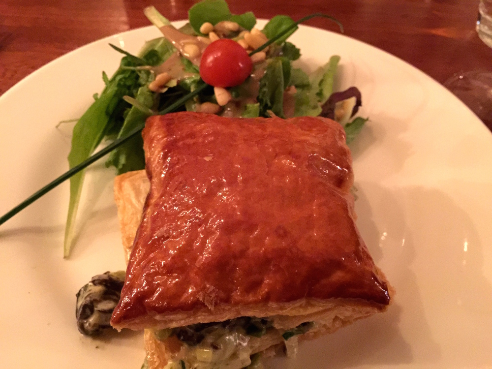 Escargot  in puff pastry appetizer  at   La Vache et le Cuisinier