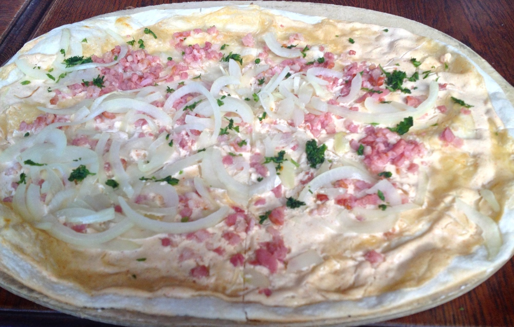 My classic  flammkuchen  with bacon and onions
