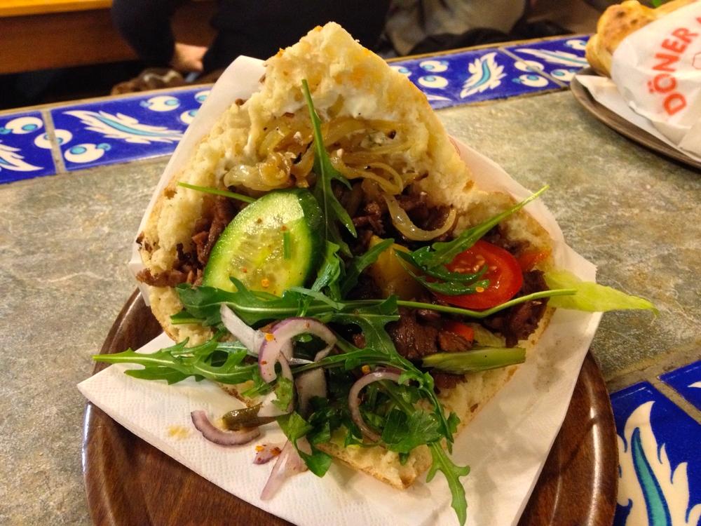 Mixed vegetable and meat kebab at Alaturka