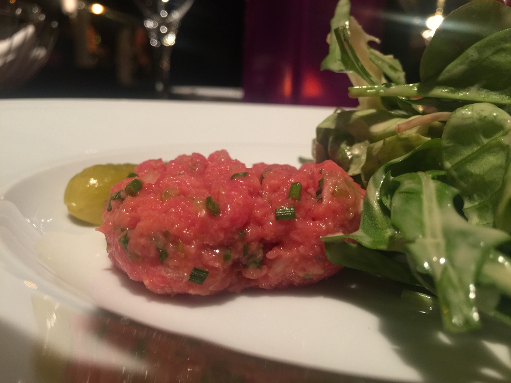 The beef tartare appetizer