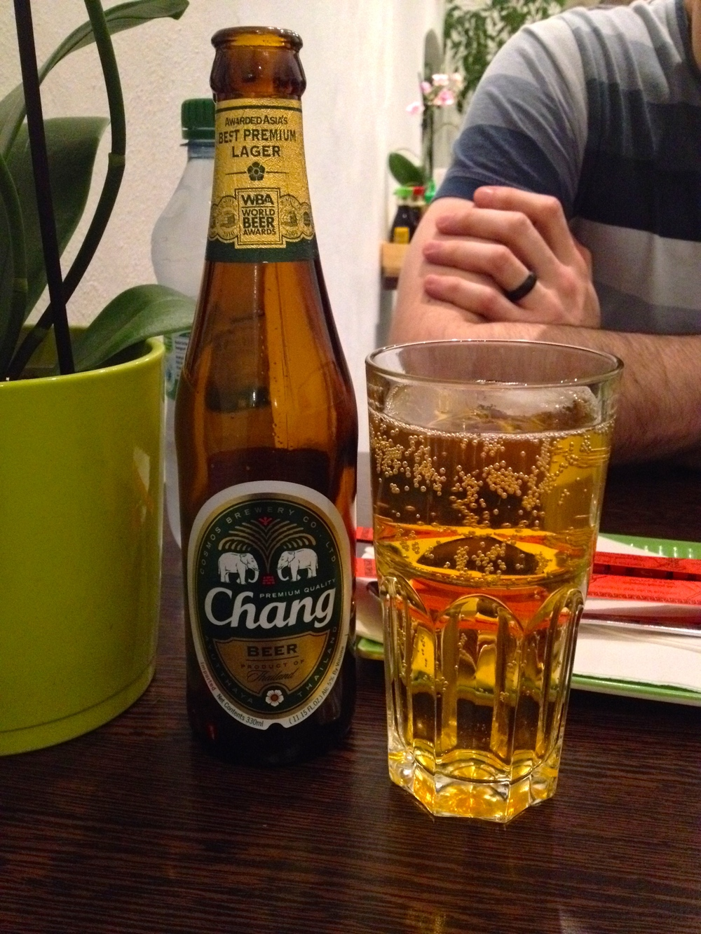 My Thai beer -- crisp and refreshing!