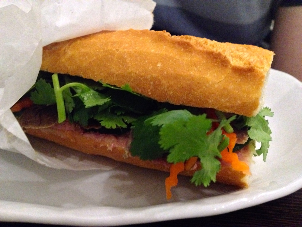 Matt's  bánh mì  sandwich with pork