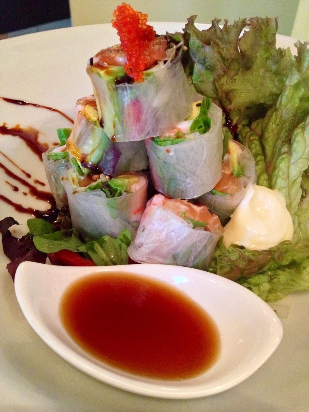 The fresh Harumaki appetizer