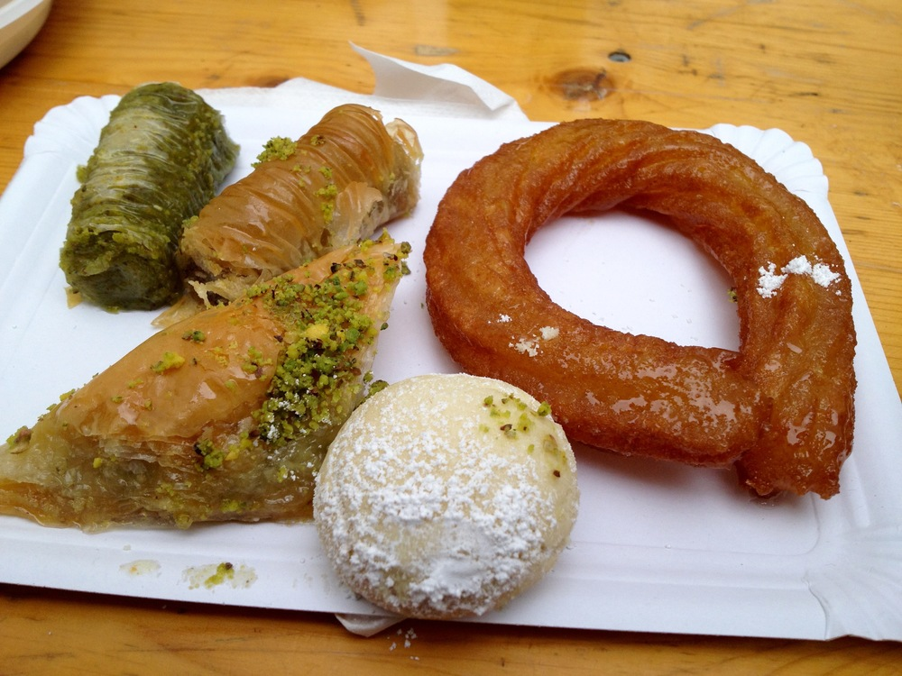 An assortment of baklava from the bakery