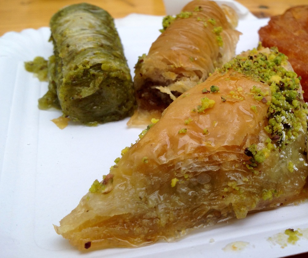 Close-up of the baklava