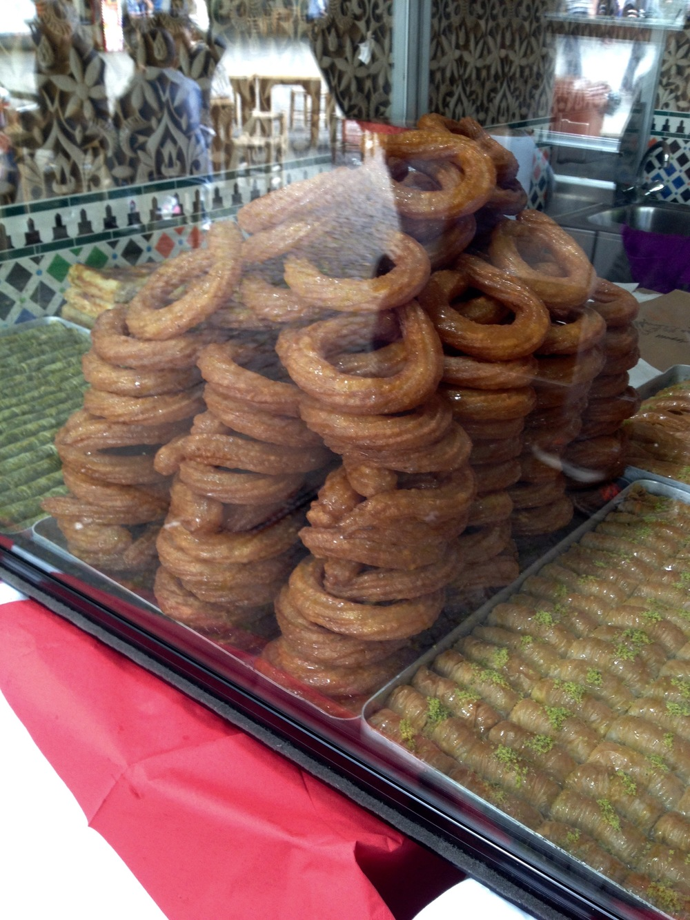 Churro-like dough soaked in a sweet syrup