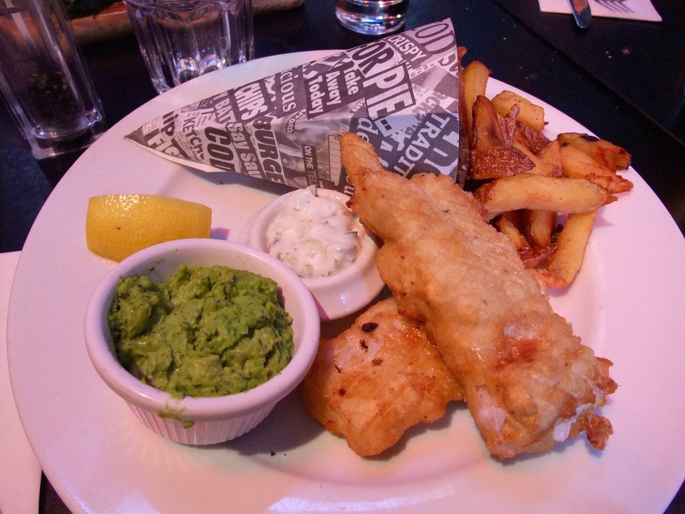 Fish and chips at Restaurant 14A