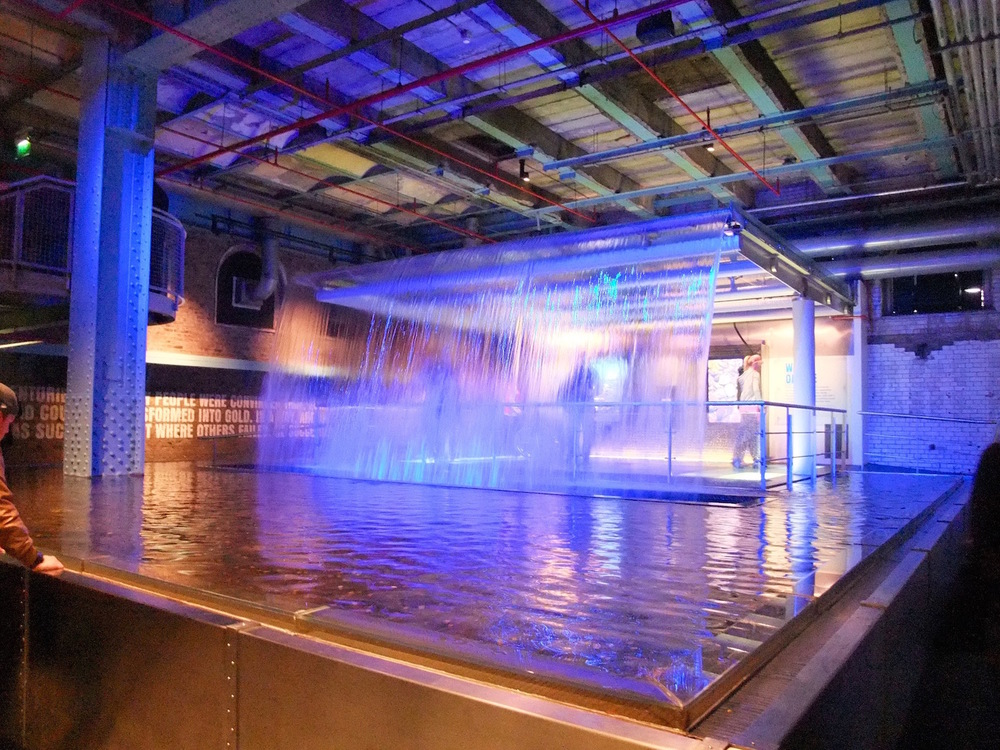 Water display at the Guinness Experience